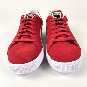 new concept 2dbb4 764bd Puma Suede Classic High Risk Red Shoes 352634-65 NWT